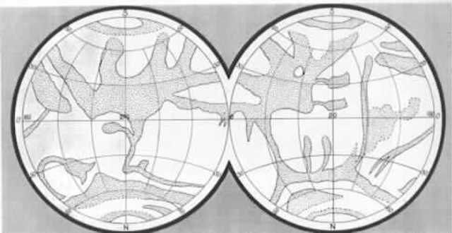 Jesuit Monk Angelo Secchi draws a more detailed and geographical map of Mars