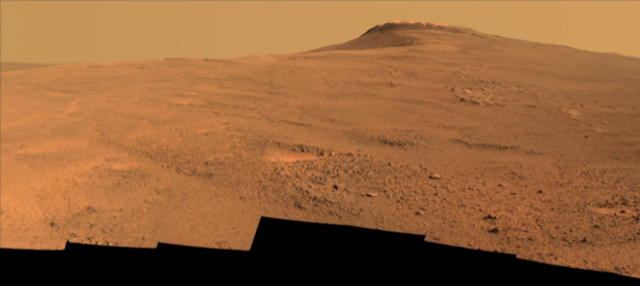 Opportunity Rover looking at Endeavour Crater