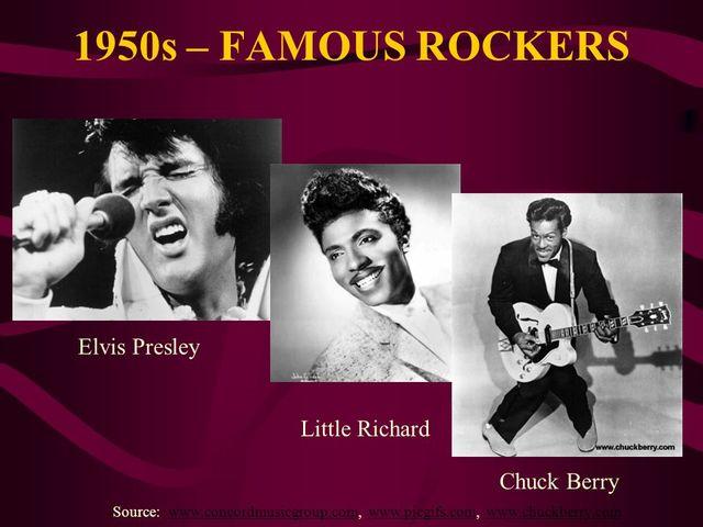 Persones importants del Rock and Roll