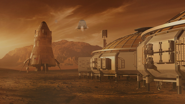 The First Living Stereotype Structure on Mars