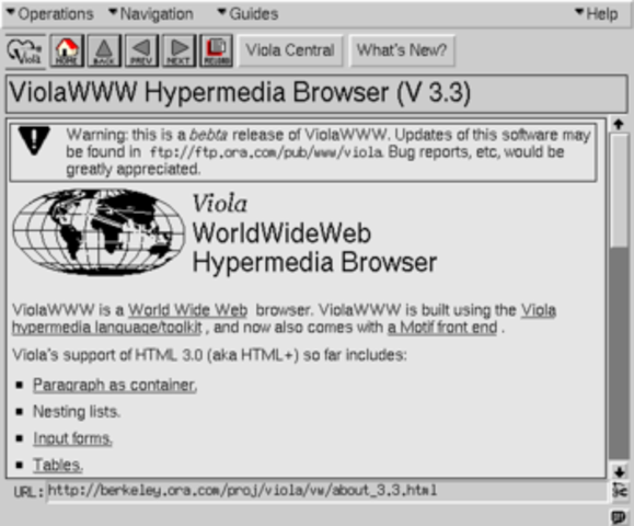 Viola WWW Browser released