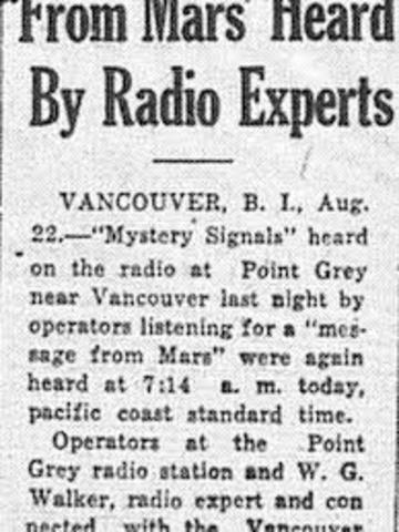 Unknown Radio Signals