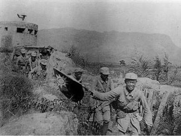 Hundred Regiments assault on Japanese by Red Army