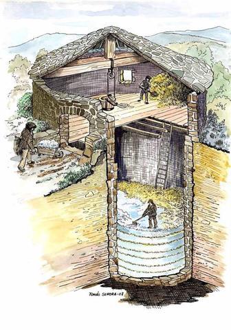 Alejandro Magno, cámaras o casas de hielo.