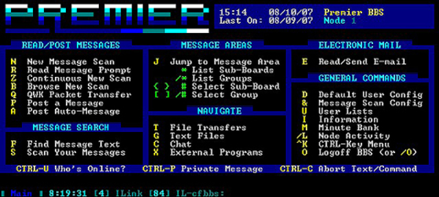 The First BBS (Bulletin Board System)