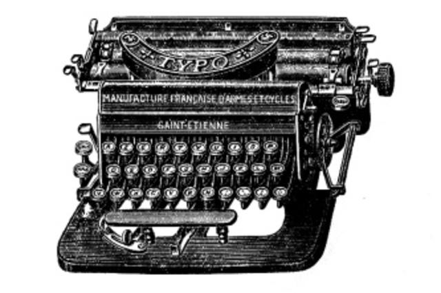 Máquina de escribir.