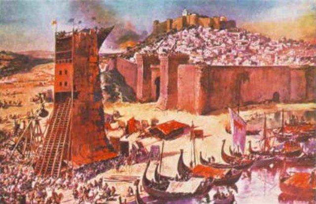 Conquista de Lisboa. Llegada de los Almohades
