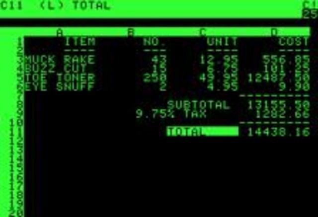 VisiCalc.
