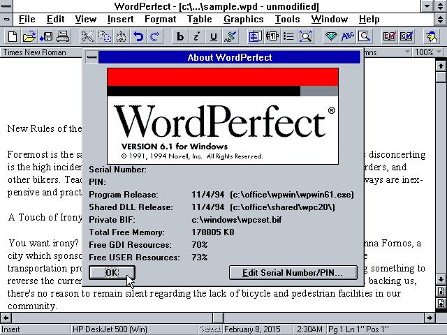 WordPerfect.