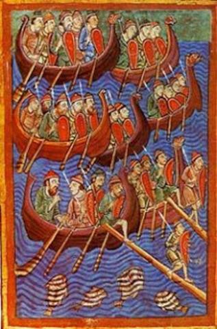 Desembarcos normandos cerca de Sevilla