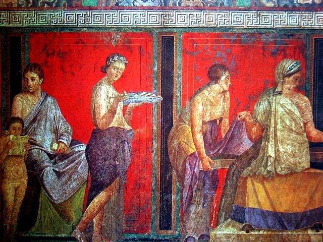 Древнеримская (Помпейская) настенная живопись