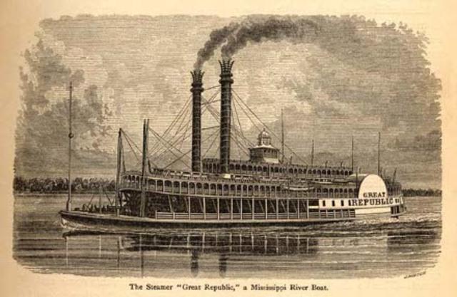 Surgen los barcos de vapor