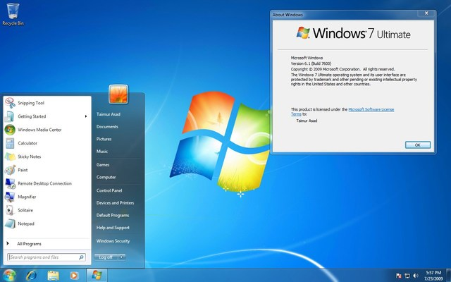 Windows 7.