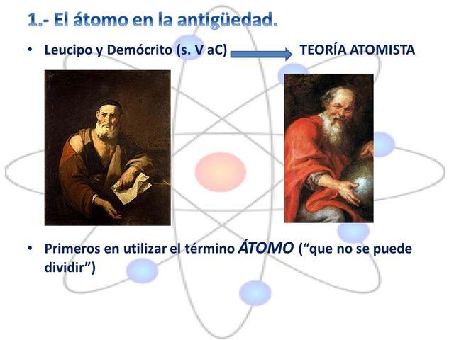 Leucipo y Demócrito. Teoría del Atomismo.