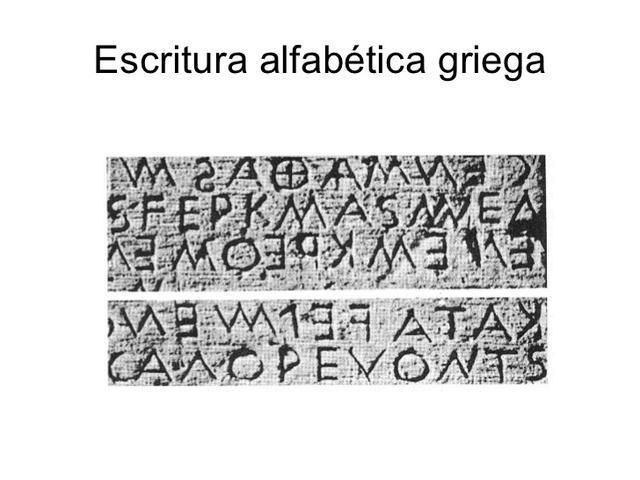 a.C Escritura Alfabética