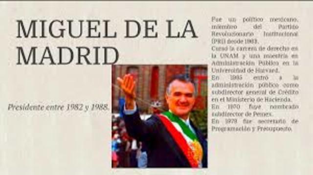 Inicio de la presidencia del Lin. Miguel de la Madrid