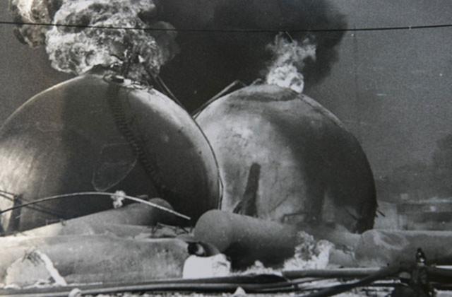 Explociones en las instalaciones de Pemex, situadas en San Juan Ixhuatepec.