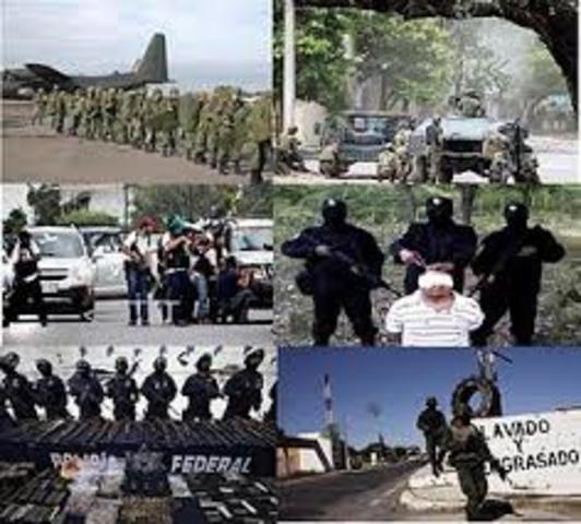Inicia Guerra Contra el Narcotrafico