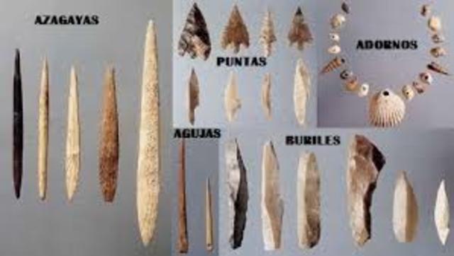Utilización de huesos y piedras