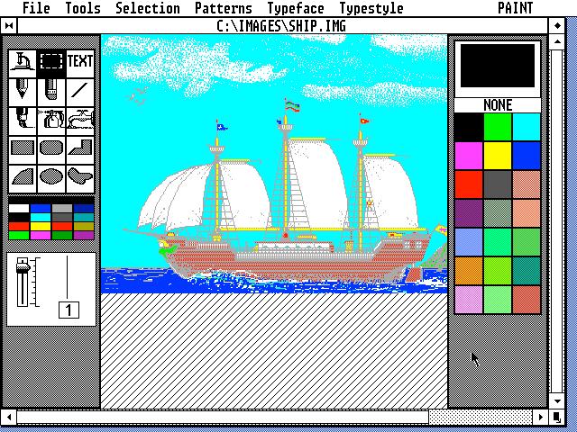 GEM Paint Version 2.01.