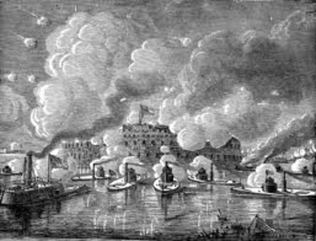 April 1861 -- Attack on Fort Sumter.
