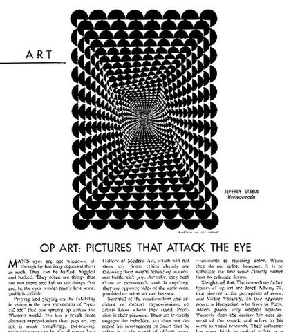 'Op art' term coined in 'Time' magazine