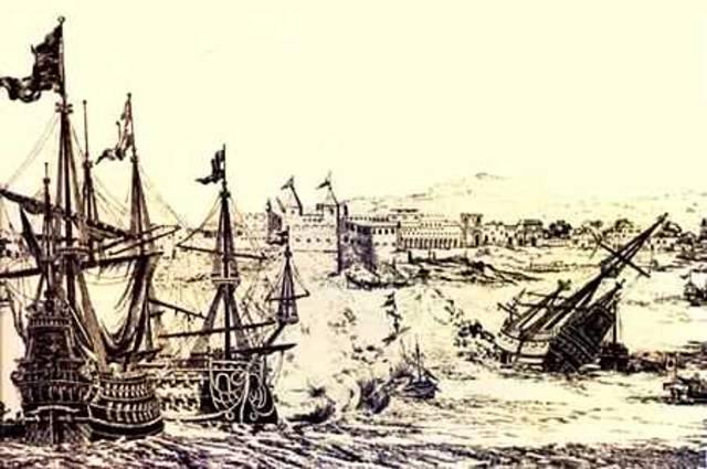 Barcos piratas (ingleses y franceses)