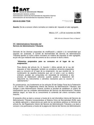 Se publico el Reglamento Interior del Servicio de Administración Tributaria