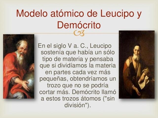 LEUCIPO Y DEMOCRITO