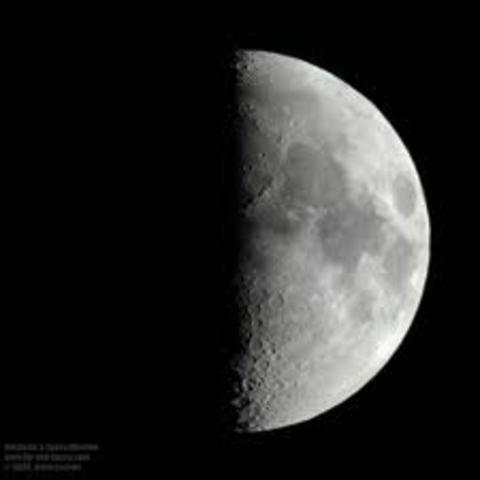 Day 8: First Quarter Half Moon