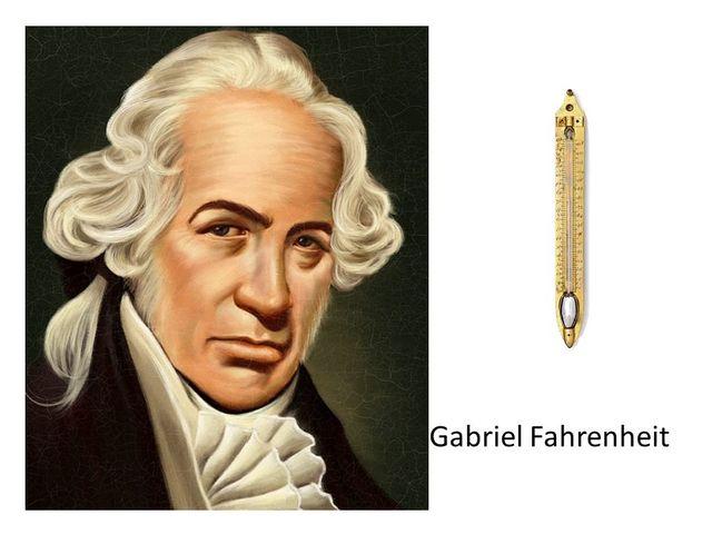Daniel Gabriel Fahrenheit. Termómetro de mercurio y la escala de temperatura Fahrenheit.