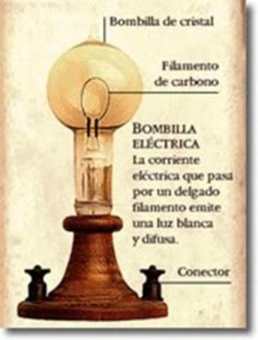 Primera bombilla - Joseph Swan y Thomas Edison.