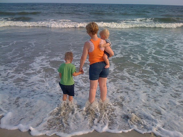 Mommy took us to Ocean Isle Beach, NC!