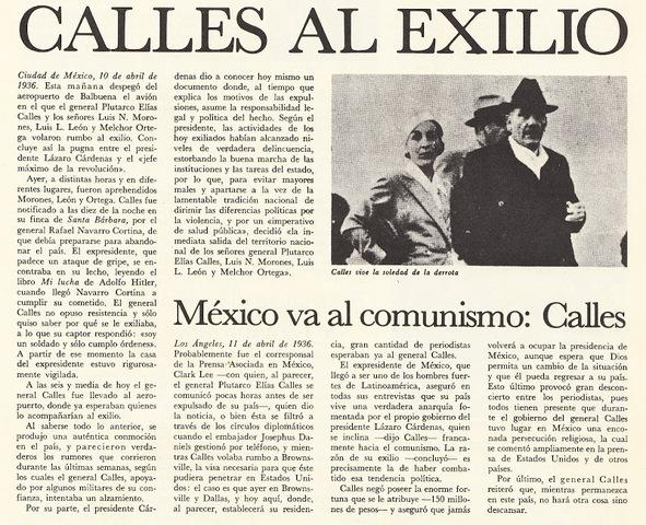 Exilio de Calles [Político]