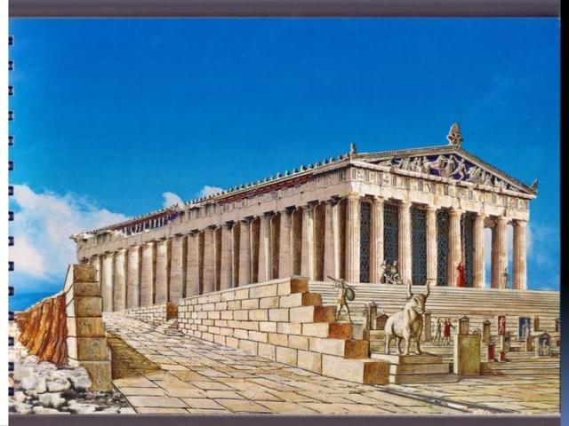 Construccion de templos en Acropolis