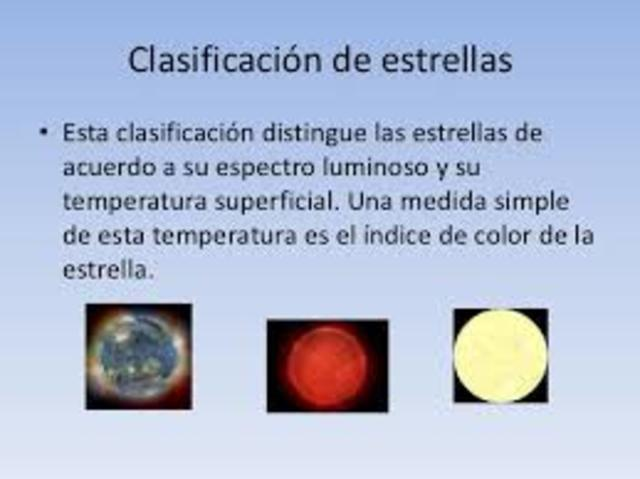 Se clasifican las estrellas.