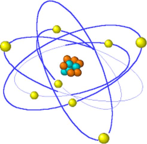 Se propone el modelo nuclear del átomo.