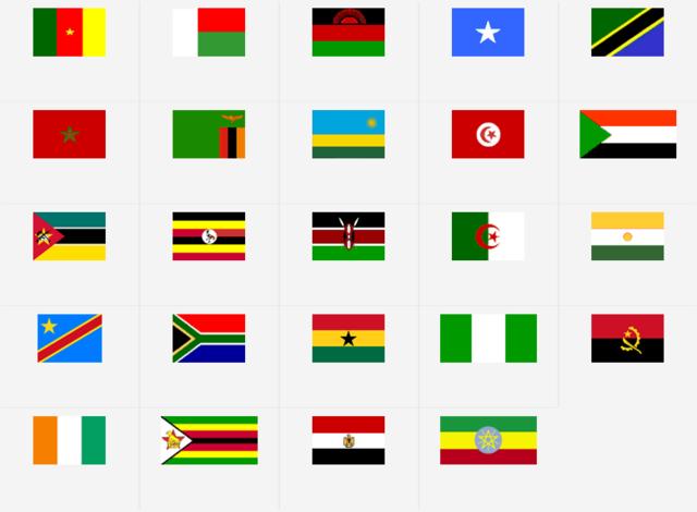 Afrikanske land blir selvstendige