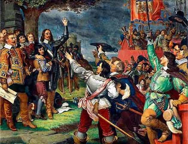 Charles I Raises the Royal Standard