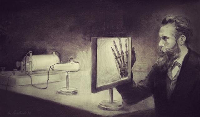 Se descubren los rayos X y se estudian sus propiedades.