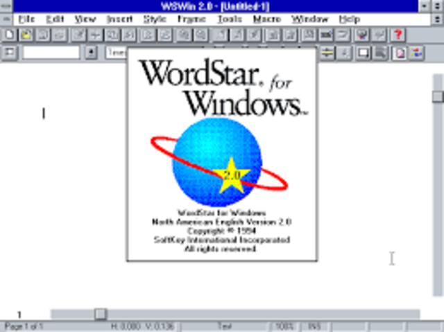 1978 – WordStar