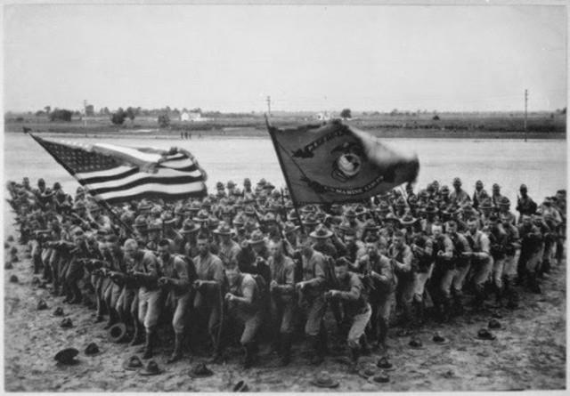 Marines estadounidenses invaden Veracruz.