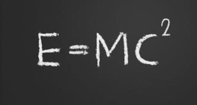 E = mc^2 ( Albert Einstein)