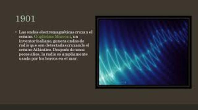 Las ondas electromagnéticas cruzan el océano (Guglielmo Marconi)