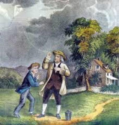 Benjamín Franklin crea el pararrayos.