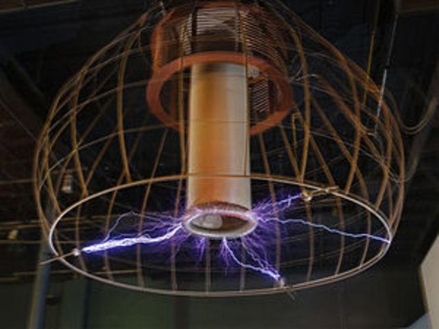 La bobina de Tesla.