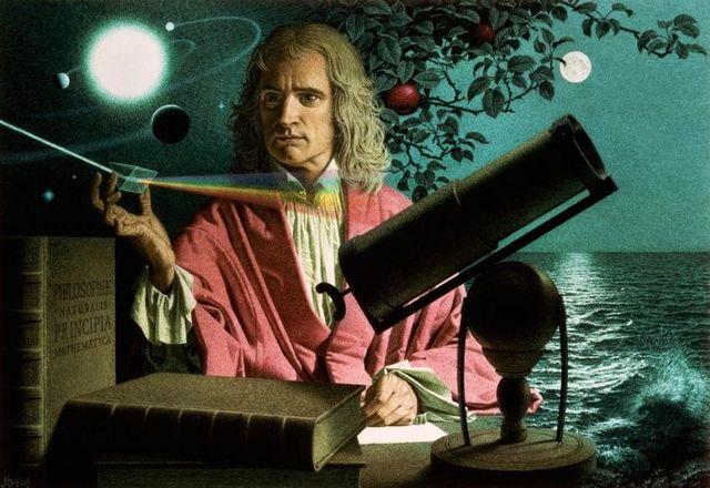 Isaac Newton. Uno de los cientificos mas importantes de la Historia.