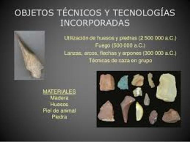 OBJETOS TÉCNICOS Y TECNOLOGÍAS INCORPORADAS