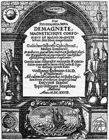 Gilbert publica De Magnete