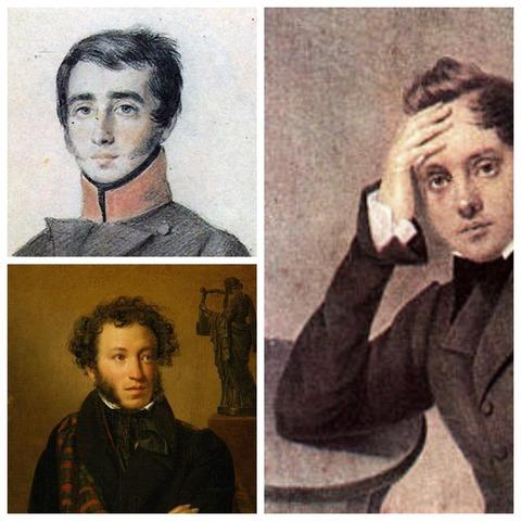 Знакомство с Пушкиным и Кюхельбекером
